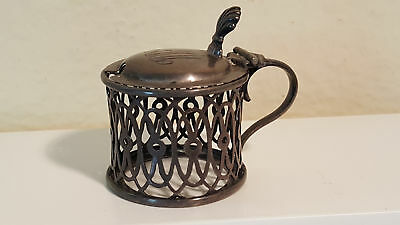 Birmingham sterling mustard pot c.1907 Deakin & Francis, no glass