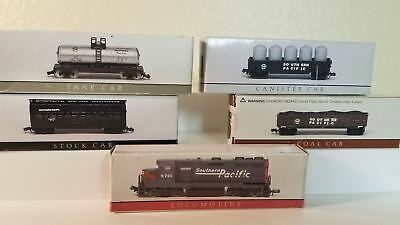 5 High Speed Products N scale Southern Pacific Loco & cars NIB