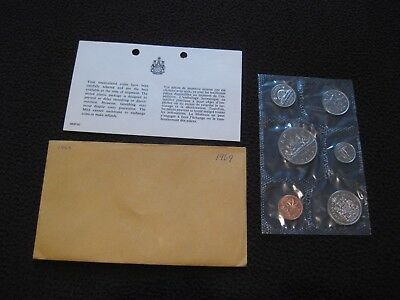 1969 Canada Prooflike Set incl Envelope and COA - NO GST/HST
