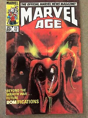 MARVEL AGE #23 Comic OFFICIAL News Magazine Feb 1985  Fine