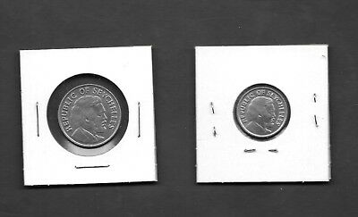 Seychelles 25 & 50 Cents Independence 1976 Coins - Very Nice -
