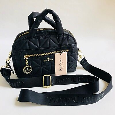 53b659b388 NWT JUICY COUTURE Crown Jewel MINI Quilted Black Crossbody Bag ...
