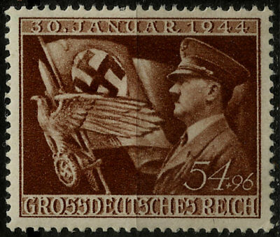 Iii Reich, Adolf Hitler With Flag, Michel # 865, Year 1944, Mnh, Lot 3177