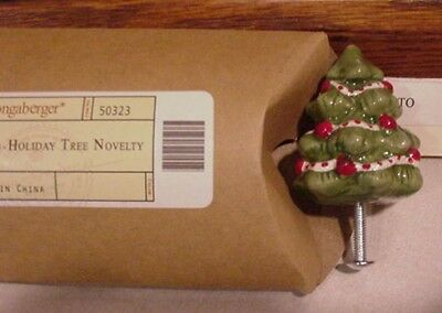 Longaberger Baskets  Holiday Tree Knob For Basket Lid, Or Drawer Mib