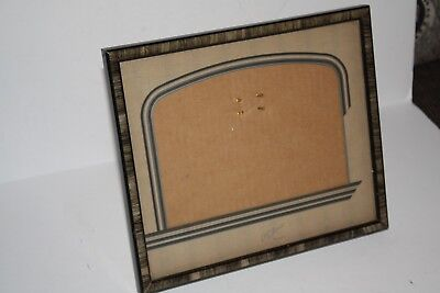 "Vintage Art Deco Frame 9"" x 7.75"" Attached Stand"