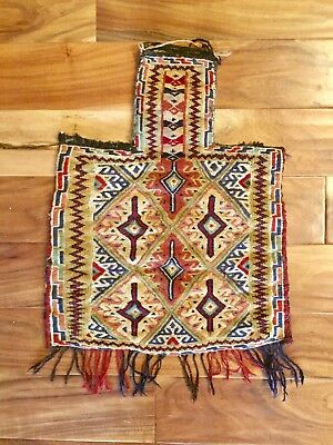b3d4d9c743 Antique Persian Hand Woven Camel Saddle Bag with Fringe – Beautiful
