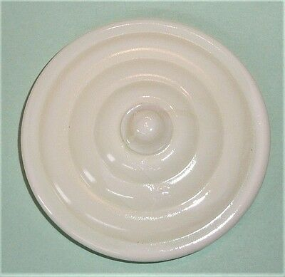 Akro Agate Child Tea Set Large Concentric Ring Cream Sugar Lid