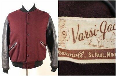 VTG High School College University Leather Letterman Varsity Jacket Varsi-Jac