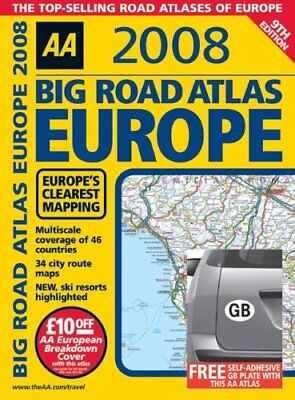 Big Road Atlas Europe (AA Atlases) Spiral bound Book The Cheap Fast Free Post