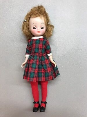 1950s betsy mccall in her plaid christmas dress - Plaid Christmas Dress