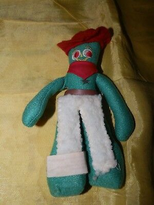 Circa 1980's Cloth Gumby Figure by Applause-Has His Cowboy Gear On-Yee Haw!