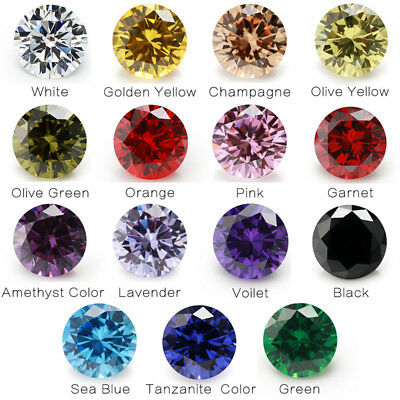 1PCS Per Colors Total 15pcs 4mm~10mm Round Shape Loose Cubic Zirconia