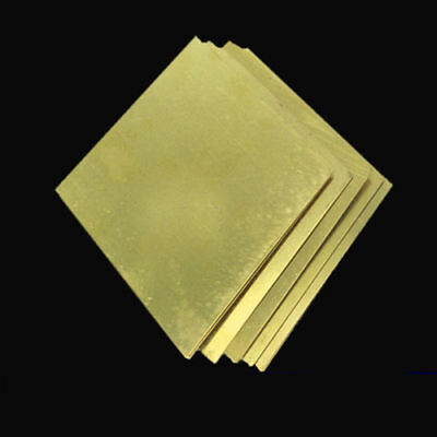 Good H62 Brass Copper Flat Stock Plate Sheets 0.5-3mm Thick Metal Board