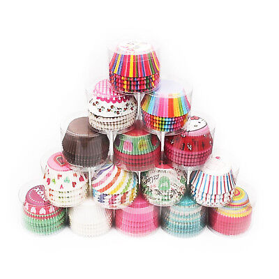 100 pcs Greaseproof Cupcake Cases Muffin Baking Cases Decorating DIY Patterned