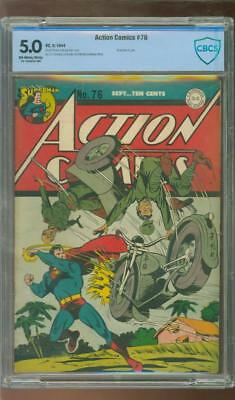 Action Comics #76 [1944] Certified[5.0] Classic Ww Ii Cover