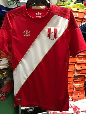 UMBRO PERU WORLD Cup 2018 Away Black Jersey Soccer Camiseta Limited ... 7a297949e