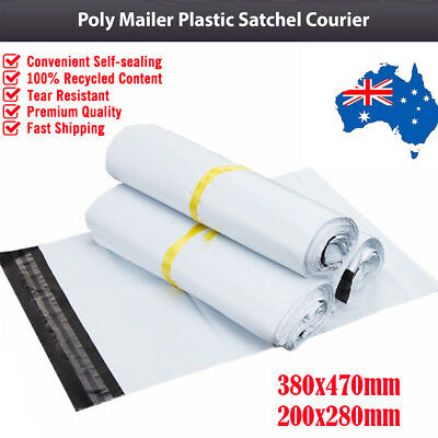 Plastic Poly Mailer Courier Bag Mailing Satchel Post Bag 200x280mm 380x470mm AU