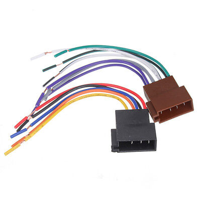 1Set Universal Car Stereo Female Socket Radio ISO Wire Harness Adapter Connector
