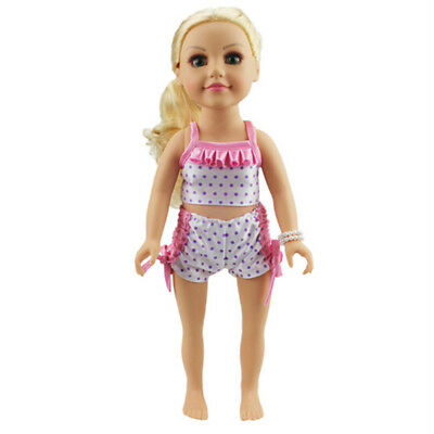 18''American Girl Doll Swim Beach Clothes 43cm Zapf Baby Born Doll Swim Suit HK