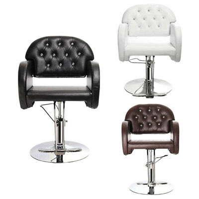 Classic Salon Leather Chair Fashion Crystal Back Barber Hairdressing Beauty Seat