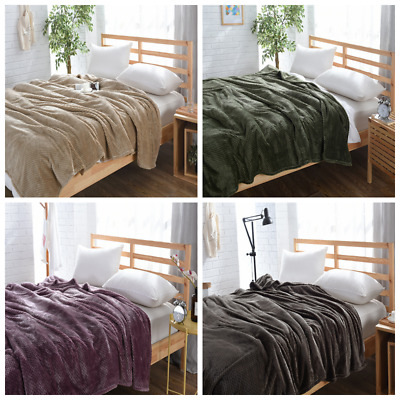 New Large Luxury Waffle Christmas Mink Warm Bedroom Throw Over Bed Soft Blanket