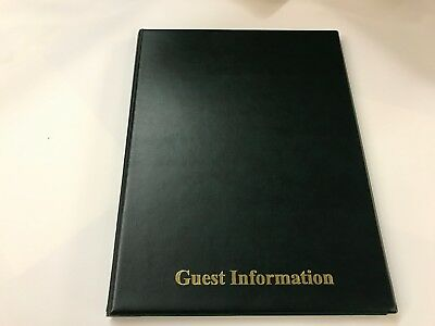 Pvc GREEN LEATHER LOOK GUEST INFORMATION FOLDER - TOP QUALITY