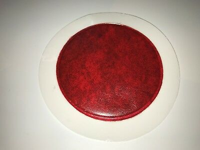 Qty 100 Permit / Tax Disc Holders Ref Red Leather Look