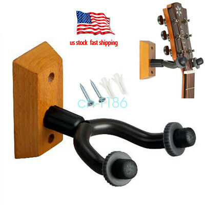 1-24 Lot Guitar Wall Mount Hanger Stand Holder Hooks Display Acoustic Electric