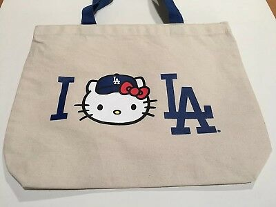 2017 LOS ANGELES DODGERS Hello Kitty Tote Canvas Bag NEW Not Used