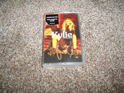 Kylie Minogue SIGNED Golden Cassette Tape RARE Collectors item Limited Edition