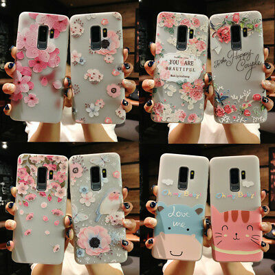 For Samsung Galaxy S9 S8 Plus Note 9 Flower Pattern TPU Soft Silicone Case Cover