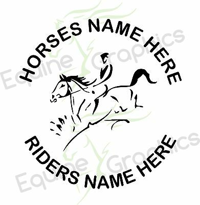 Personalised Horsebox / trailer sticker decal Horse Event Line art graphics