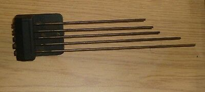 "Set of Westminster Chime gong rods with stand approx 1 1/4"" high"