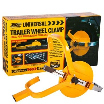 "Maypole Heavy Duty 8""- 10"" Car Van Trailer Caravan Security Wheel Clamp Lock"