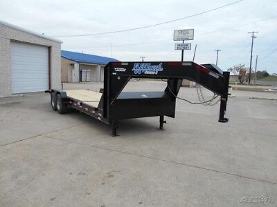 82 x 24 24ft Equipment Gooseneck Construction Tilt Tractor Utility Cargo Trailer