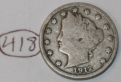 United States 1912 Liberty Head Nickel USA 5 Cents Coin Lot #418