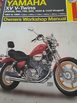 Haynes Yamaha virago manual on