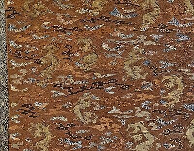 15th-16th & 19th C. Japanese & Chinese Cord Silk Embroidered Panel-LARGE!-RARE!