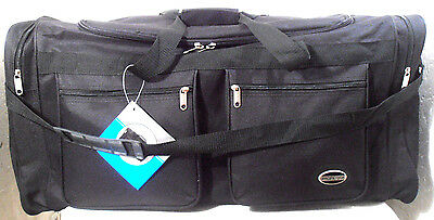 "New 30"" Inch Duffle Bag Black Multible Compartments  Shoulder Strap"