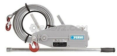 Wire Rope Pulling Hoist Winch Lift And Pull 800 Kg Fervi 0791/08