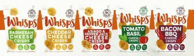 Cello Whisps Cheese Crisps - 5 Flavor Variety Pack