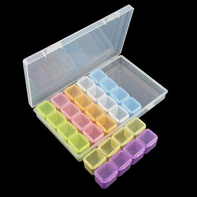 28 Slots Colorful Diamond Painting Accessories Box Embroidery Storage Case Kit