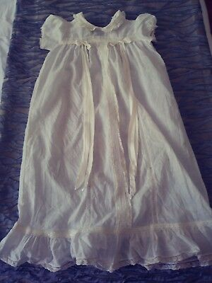 19th c. antique christening gown