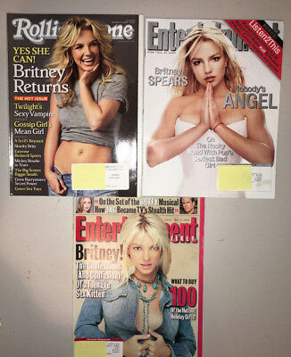 Britney Spears Rare Cover Magazine Lot ROLLING STONE 1067 Entertainment 624 738