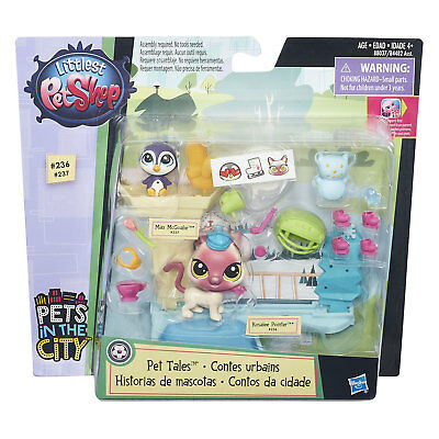 Littlest Pet Shop Pet Tales ICE SKATING Playset w/Rosalee Pointer & Max McGoalie