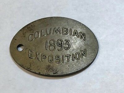 Elongated Unidentifiable Date Shield Nickel stamped 1893 Columbian Exposition