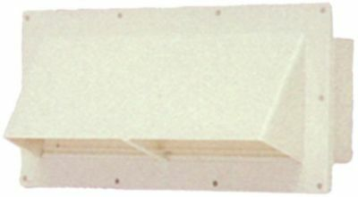 White Exterior Wall Vent Ducted Range Hood RV Trailer Horizontal Exhaust Cover