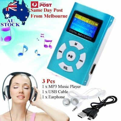 Portable USB Digital MP3 Music Player LCD Screen Support 32GB