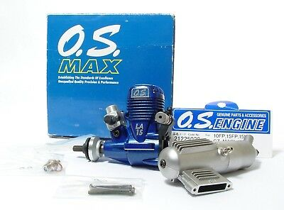 OS Max 15LA Model Engine + Silencer | Boxed & Unused | Mint Condition.
