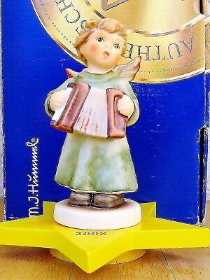"Goebel Hummel Figurine ""angel With Accordion"" Hum #2135 Tkm8 Annual Mib L294"